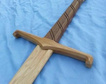 Decorated Longsword, Wooden Sword,Hema, larp, waster, functional, display.