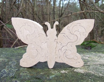 butterfly ornament, butterfly gift, children's butterfly  ornament, butterfly jigsaw, bedroom decor, wildlife ornament, children's toy