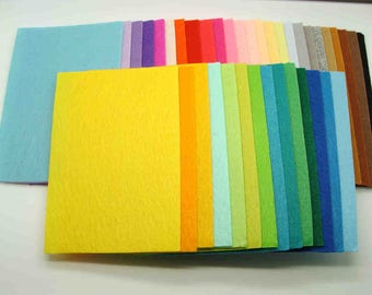 40 Plaques Feutrine 15x10cm Feuilles 1mm environ mix couleurs Feutre DIY loisirs créatifs