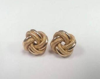20% OFF 18k Yellow Gold Love Knot Earrings