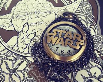 Star Wars Pocket Watch with Star Wars logo working Quartz pocket watch The Force Awakens Pocket watch.