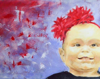 Custom Oil Portrait - custom oil painting - child oil painting - baby oil painting - oil portrait - custom painting