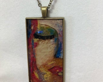 Lady Face Necklace