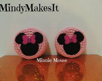 MindyMakesIt - Ear Pad Covers, Minnie Mouse (Headset, Headphone, Earpiece Cover, Ear Pads, Ear Cushion Replacement)