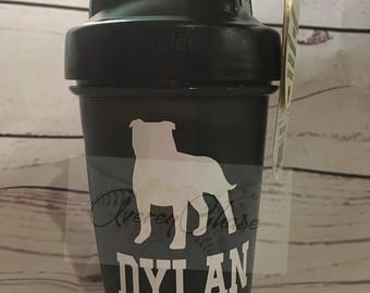 Personalized Custom Solid Colored Shaker bottles with Choice of Colored Lid