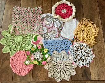 Doilies Lot Doily Crochet Doilies Lace Doilies for Wedding Doilies Bulk Doilies Colorful Doilies Wedding Table Decor Craft Doilies Lace