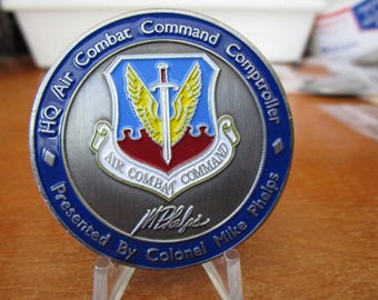 HQ Air Combat Command Controller Colonel Mike Phelps Challenge Coin #3265