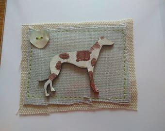 Greyhound/Lurcher greetings card