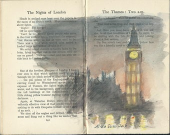 Drawing in books Nights of London