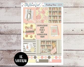 Reading Room Full Box Stickers for the EC Vertical - Light Skin/Blonde Hair