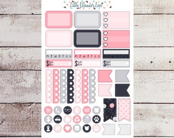Purrfect Morning Boxes and Icon Planner Stickers