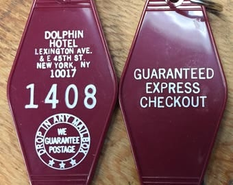 Stephen King's 1408 movie inspired Dolphin Hotel Keytag - Buy Today, Ships 4/6