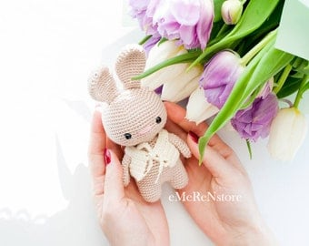 Crochet Easter Bunny, Crochet Stuffed Bunny, Crochet Dutch Rabbit, Stuffed Animal Rabbit, Amigurumi Bunny