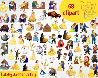 68 Beauty and the Beast Clipart - Beauty and the Beast Clipart - Beauty and the Beast PNG - Belle - Belle png - Beauty and the Beast - PNG