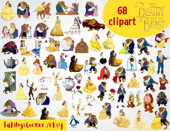 68 Beauty And The Beast Clipart