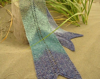 Siren Scarf original Christopher Knits Handmade Wool Silk