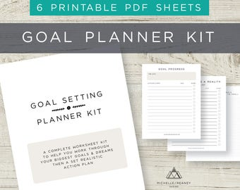 Productivity planner, Goal planner, Habit Tracker printable, Productivity Worksheets, Personal Planner, Project Planner
