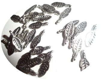 Set of 20 silver plated charms
