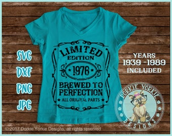 Limited edition, Brewed to Perfection, 1939-1989 Years -   - SVG, DXF, PNG jpg - cricut, silhouette  -Cut File