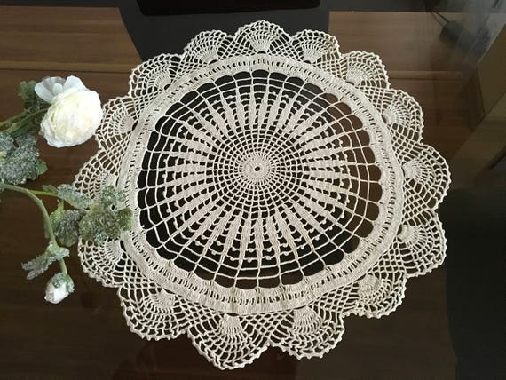 Wedding doily Handmade crochet doily Bridal shower gift Doily crochet Home decor Round crochet centerpiece Hand crocheted lace Gift for Mum