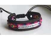 Viva la Vida Mexican style leather cuff