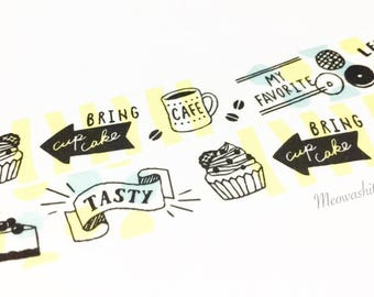 Mind Wave - Coffee and sweets washi tape (T01173)