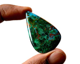 Chrysocolla 41.5 Cts AAA Quality Natural Gemstone Attractive Designer Pear Shape Cabochon 40x25x4.6 MM R14087