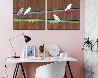 Metal Bird Wall Art, Custom Wood Wall Art, Home Metal Wall Art, Bird Wall Art Metal, Wood Wall Panel Art, Modern Art Decor