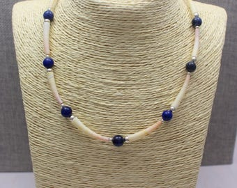 Shell & Sodalite Necklace