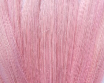 Silver opal human hair extensions double wefted clip in hair pastel pink cotton candy 100 human hair extensions double wefted clip in hair extensions pmusecretfo Images