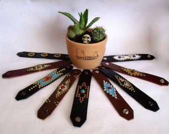 Rockabilly Studded Jeweled Wristcuffs