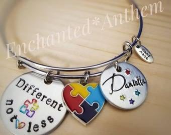 Someone I love has Autism - Autism Awareness Bracelet - Autism Jewelry - Autism Bracelet - Awareness Jewelry - Personalized Autism Bracelet