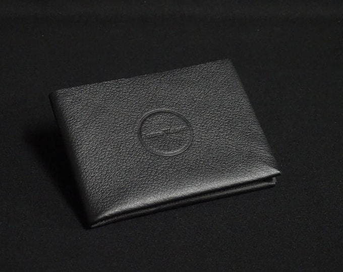 6Pocket Wallet - Black - Kangaroo leather with RFID credit card blocking - Handmade - Mens/Womens - James Watson