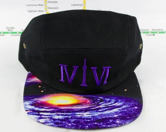 """Outta This World! Cosmically Cool 5 Panel Hats! Roman Numerals Stand For """"416"""", With The """"1"""" Resembling The CN Tower! Outer Space, Cosmic!"""