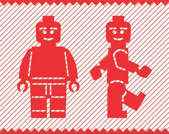 Lego Figurine Clipart // png // svg // eps // cdr // pdf // dxf // psd // Cricut file // Cameo file // Laser Cutting and Engraving file