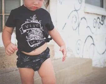 VIVE LA FEMME little feminist kids shirt, girl power feminist toddler shirt, feminist baby gift, hand lettered toddler shirt