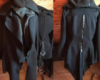 Assassin thief coat jacket steampunk LARP hood
