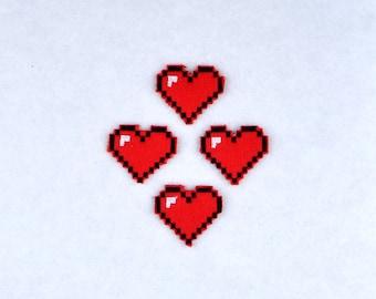 8 Bit heart feltie ITH machine embroidery design