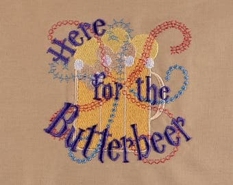 Here for the Butterbeer 4x4 machine embroidery design