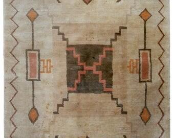 Handmade vintage Tibetan Khaden rug 5.2' x 7.7' ( 159cm x 237cm ) 1960s