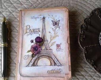 vintage paris A6 notebook