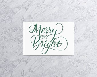 Merry and Bright  | Christmas Card and Envelope
