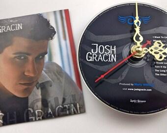 CD Clock Josh Gracin Handmade Clock FREE U.S. SHIPPING Unique Birthday Present Gift