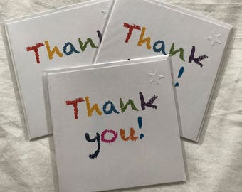 Thank You Cards pack of 3