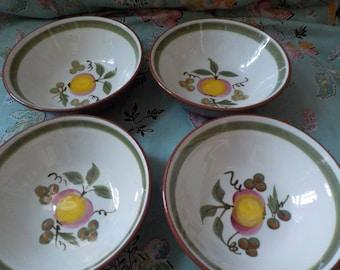 Four Stangl Bowls