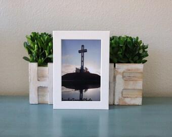 Cross Photography, Memorial Mount Soledad, San Diego, California, Veterans, Sunset, Print, Shadow, Photo,
