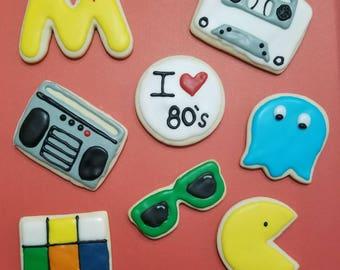 80's Theme cookies-1 dz