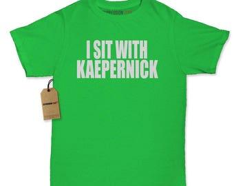 I Sit With Kaepernick National Anthem Womens T-shirt