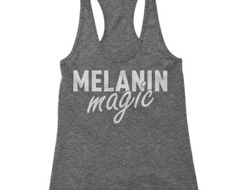 Melanin Magic Racerback Tank Top for Women