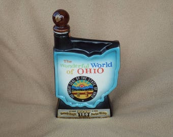 Vintage 1968 Jim Beam Liquor Decanter; Jim Beam Ohio Decanter
